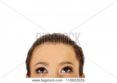 African woman's eyes.