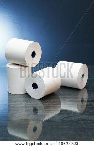 Paper Rolls On Dark