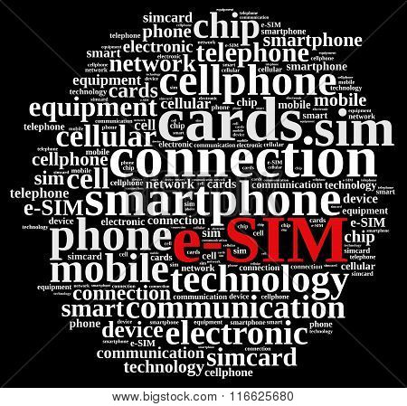 Word Cloud Related To E-sim.