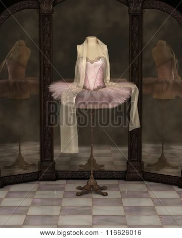 Pink Classical Ballet Tutu Reflections