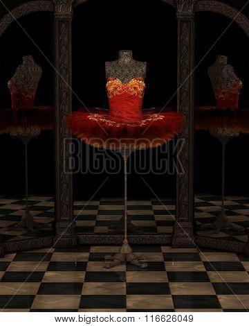 Red Firebird Classical Ballet Tutu Reflections