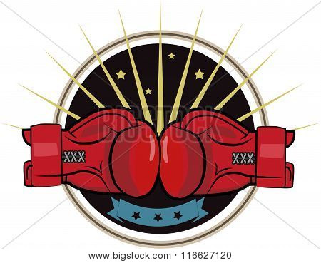Boxing Gloves. Sport Strong People.