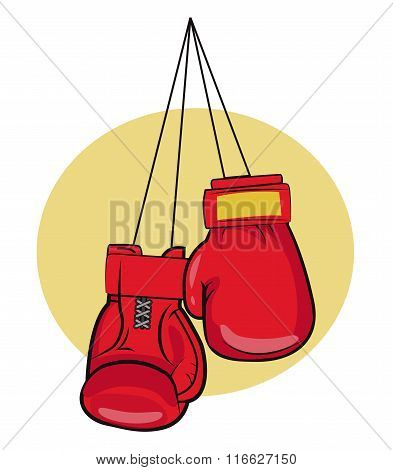 Boxing Gloves. Vector illustrations.