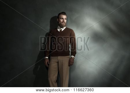 Fashionable Bearded Young Man