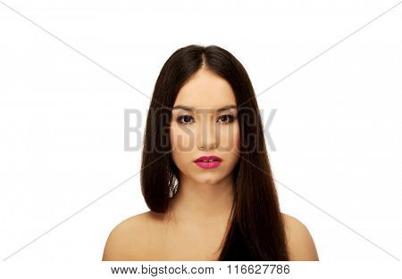 Beauty woman with full make up.