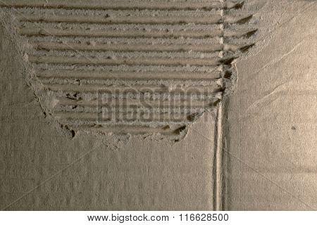 Background Of Broken Corrugated Cardboard