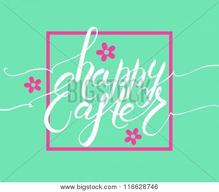 Easter Postcard, Card, Invitation, Flyer, Banner Template.