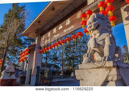 Gate of  Cham Shan Temple in Toronto