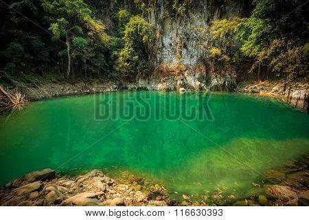 Wonderful Waterfall In Thailand, Lom Pu Keaw Waterfall Lampang