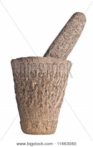 African Mortar And Pestle