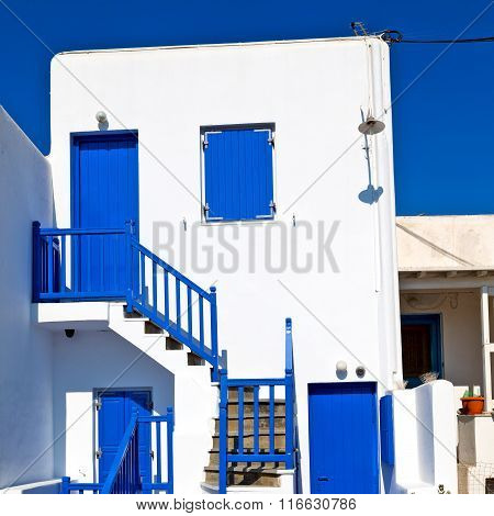 In The Isle Of Greece Antorini Europe Old House And White Color