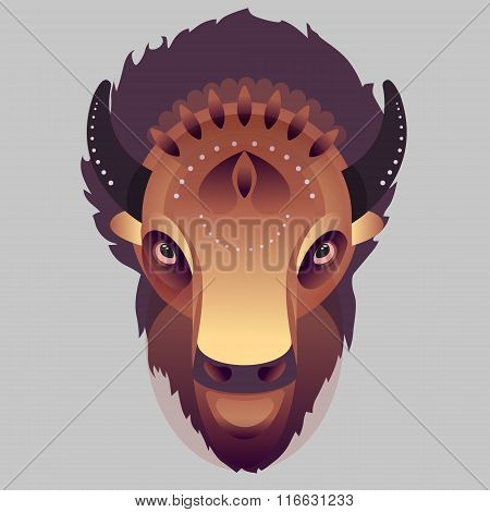 Buffalo - vector illustration