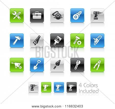 Tools Icons / The file Includes 4 color versions in different layers.