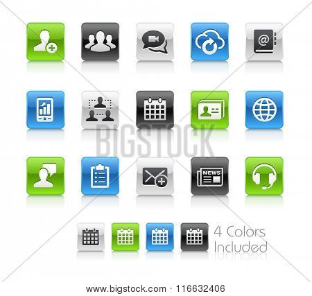 Business Network Technology / The file Includes 4 color versions in different layers.