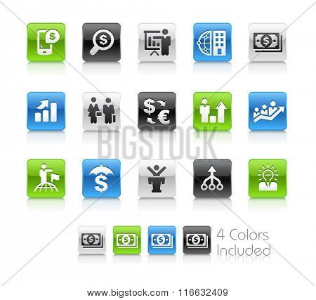 Financial Business / The file Includes 4 color versions in different layers.