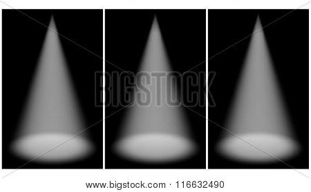 Scene illumination from above and below,  dark