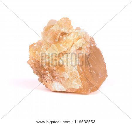 Isolated Image Of A Single Stone Selenite