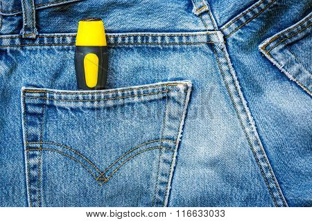 Jeans Bag With Screwdriver