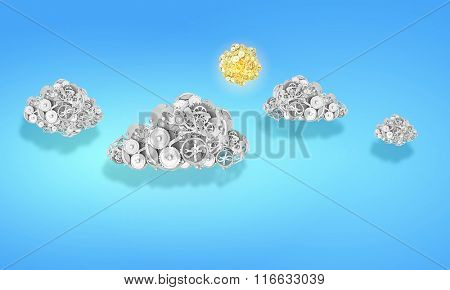Clouds of gear elements