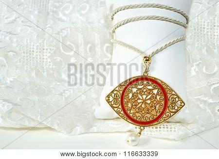 gold byzantine eye necklace - expensive jewelry - greek evil eye jewelry