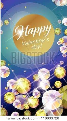 Vector congratulation card for Valentine's day.