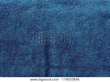 Navy Blue Towel Texture.