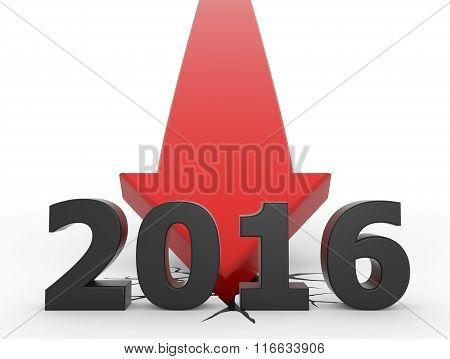 Red 3D Arrow Crash 2016