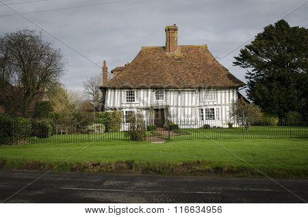 Ancient Half-timbered Cottage