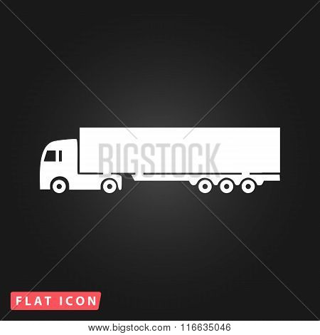 Vector detailed trucks silhouettes