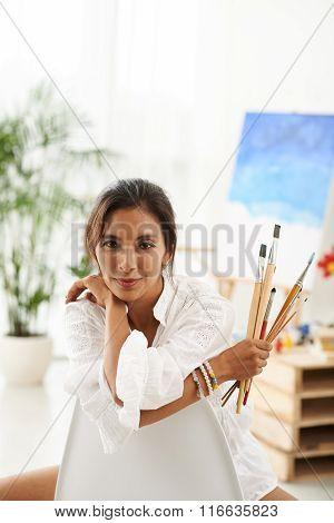Creative female artist