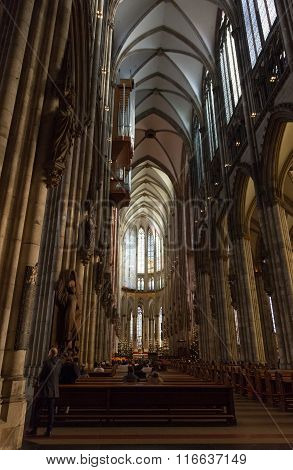 Interior Of The Cologne Cathedral.