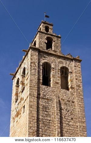 Tower Of The Romanesque Monastery Of Sant Cugat, Barcelona.