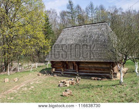 Wooden House And Fields, Ukraine