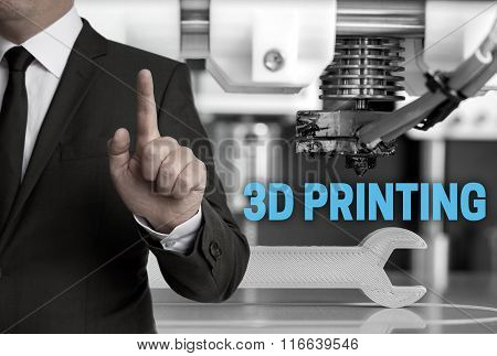 3D Printing And Businessman Concept