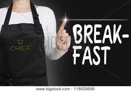 Breakfast Touchscreen Is Operated By Chef Concept