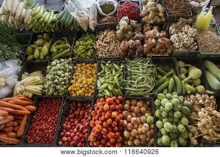 Thailand Kanchanaburi Thong Pha Phum Market