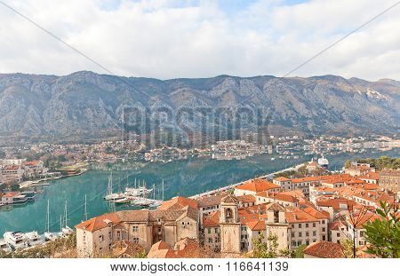 View Of Old Town Of Kotor, Montenegro