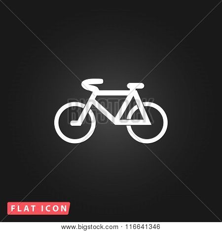 Mountain bike flat icon
