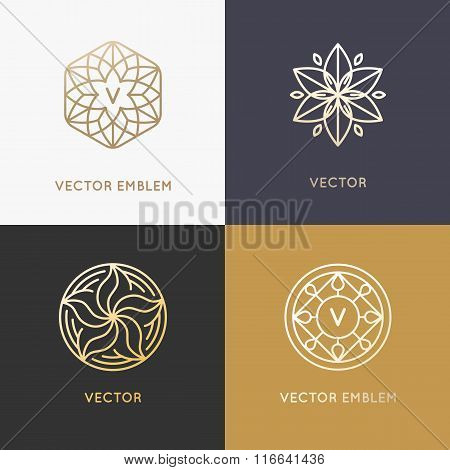 Vector Abstract Monograms And Logo Design Templates