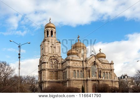 Varna, Bulgaria. View Of The Cathedral Of Byzantine Style