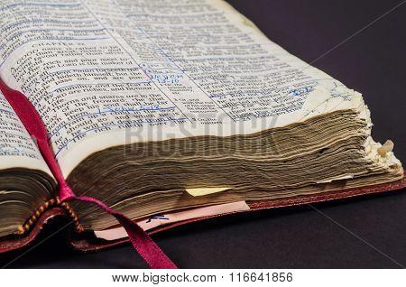 Well Worn Open Bible