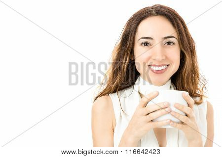 Business Woman With A Coffee Cup