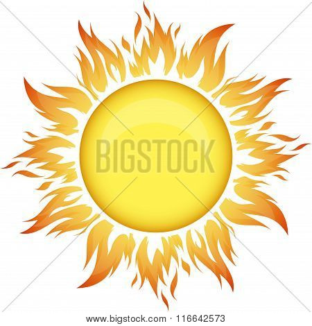 Decorative Vector Bright Colorful Sun Symbol For Your Decor