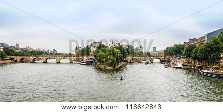 Seine And Notre Dame De Paris