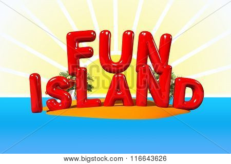 Fun Island Illustration