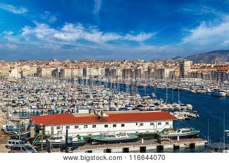 Old Port  In Marseille, France