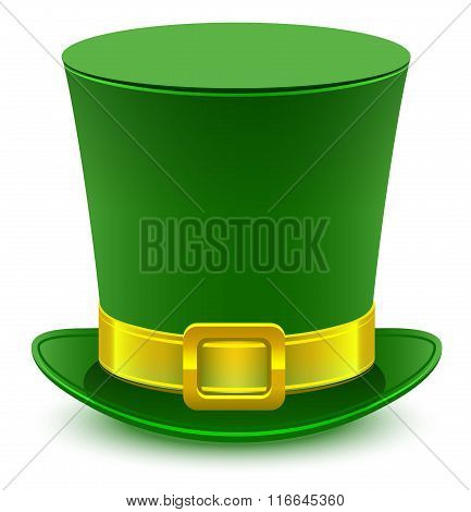 Patrick green hat with gold buckle