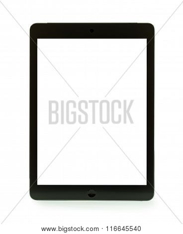 Black Tablet With Blank Screen For Template Isolated