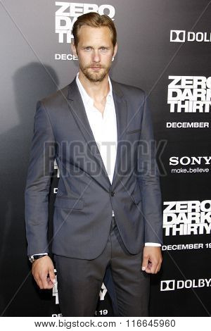 LOS ANGELES, CALIFORNIA - December 10, 2012. Alexander Skarsgard at the Los Angeles premiere of 'Zero Dark Thirty' held at the Dolby Theatre in Los Angeles.