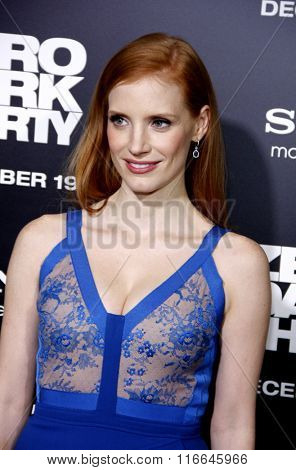 Jessica Chastain at the Los Angeles Premiere of